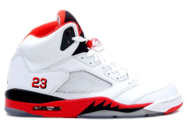 air jordan 5 retro fire red white fire red black shoes for sale online