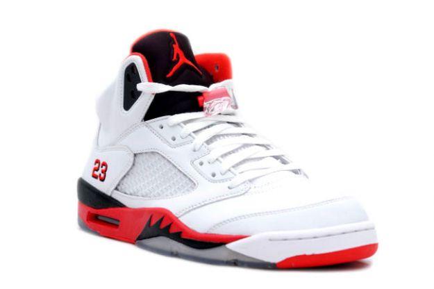 jordan 5 red and black