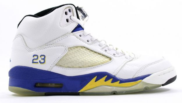 air jordan 5 retro laney white varsity royal varsity maize shoes for sale online