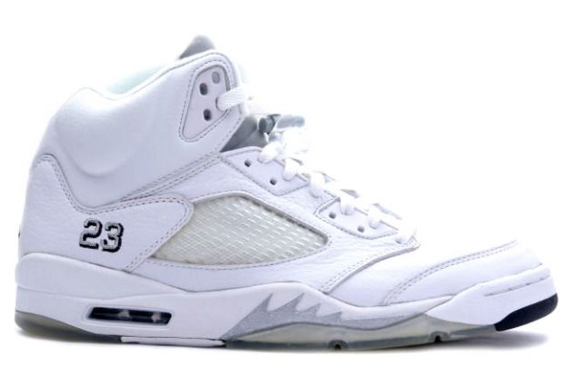 air jordan 5 retro white metallic silver black shoes for sale online