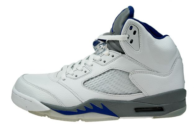 air jordan 5 retro white sport royal stealth shoes for sale online