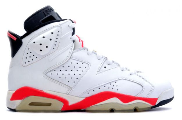 cheap air jordan 6 original white infared black shoes