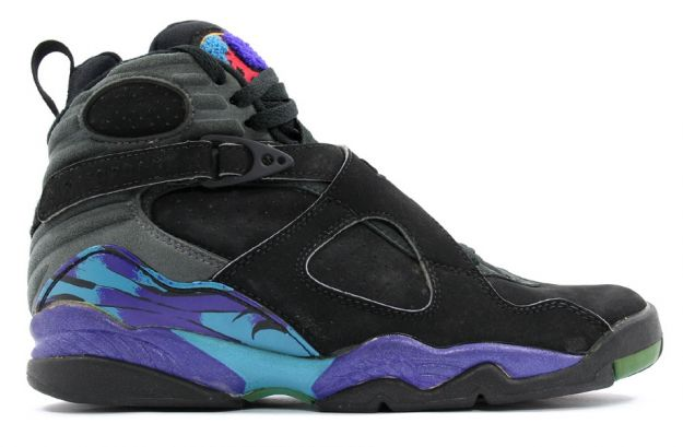 air jordan 8 original aquas black bright concord aqua tone shoes