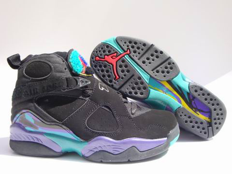 air jordan 8 retro black green shoes