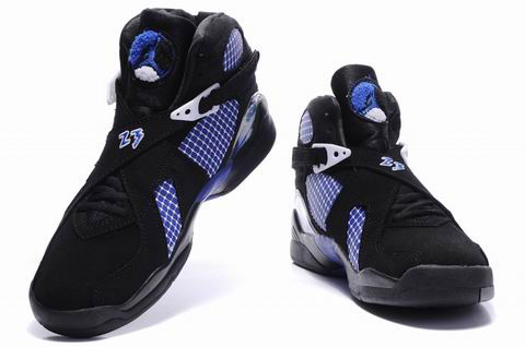 air jordan 8 retro black true blue shoes