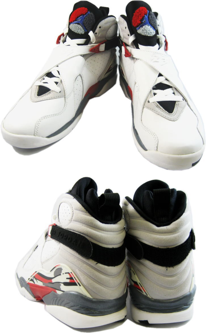 air jordan 8 retro white black true red shoes
